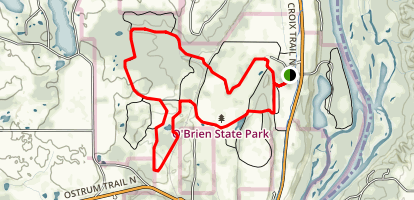 William O'Brien State Park Upper Park Trail Map