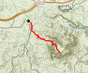 Picketpost Mountain Trail Map