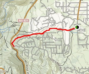 Lower Galena Creek Trail Map