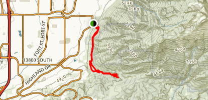 Bonneville Shoreline Draper Section Trail Map