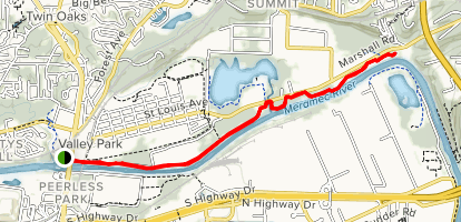 Meramec Greenway Arnold's Grove Trail Map