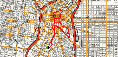 San Antonio River Walk Mission Reach Trail Map