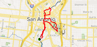 san antonio river map San Antonio River Walk Mission Reach Trail Texas Alltrails san antonio river map