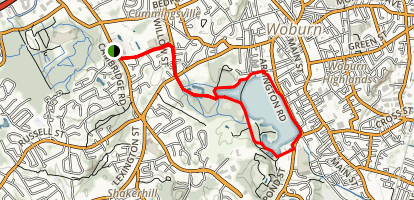 Horn Pond Trail Map