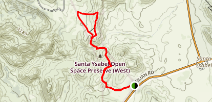 Santa Ysabel Preserve West Trail Map