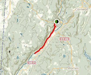 Housatonic River via Appalachian Trail Map