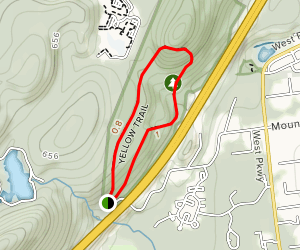 Mountainside Park Blue Trail and Yellow Trail Loop Map