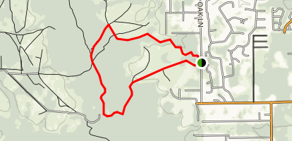 North Fork Black Creek Trail Map