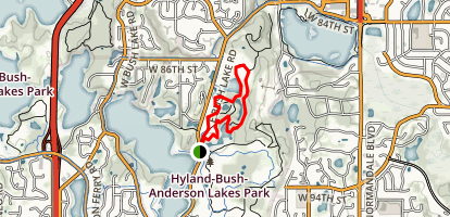 Richardson Nature Center Trail Map