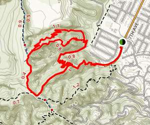Hacienda Hills Trail Map