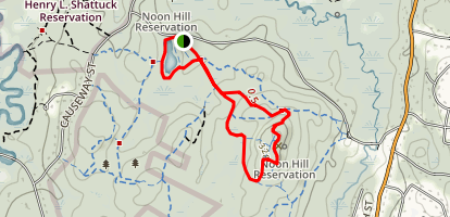 Noon Hill Reservation Trail Map