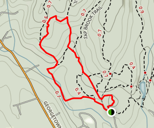 Devils Den Saugatuck Trail Map