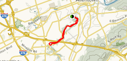 Little Lehigh Parkway Trail Map