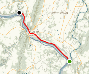 C&O Canal Trail (Point of Rocks to Monocacy Aqueduct) Map