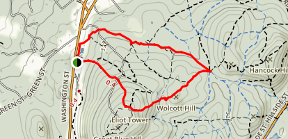 Wolcott Hill Loop Trail Map