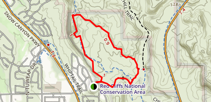 Paradise Canyon - Scout Cave Trail Map