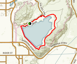 Lake Perris Loop Trail Map