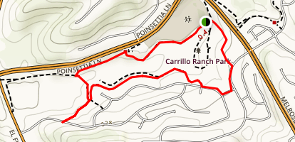 Rancho Carrillo Loop Trail Map