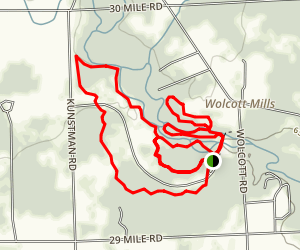 Wolcott Mill Metro Park Trails Map