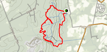 Sourland Mountain Ridge Loop with Roaring Brook Trail Extension Map