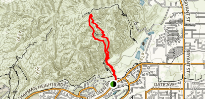 Zanja Peak Trail Map