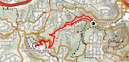 Marquam Trail to Council Crest Hike Trail Map