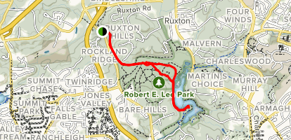Lake Roland Park to Lake Roland Trail Map