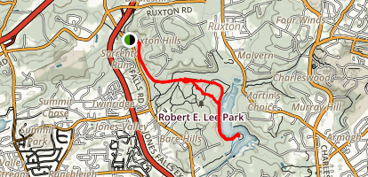 Robert E. Lee Park to Lake Roland Trail Map