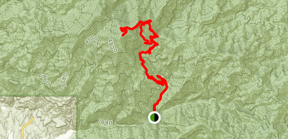 Santiago Peak via Holy Jim Trail and Main Divide Road Map