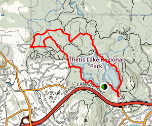 Thetis Lake Trail Map