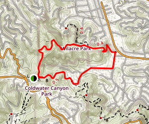 Coldwater Canyon Betty B. Dearing Trail Map