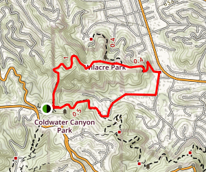 Coldwater Canyon Betty B. Dearing Trail [CLOSED] Map