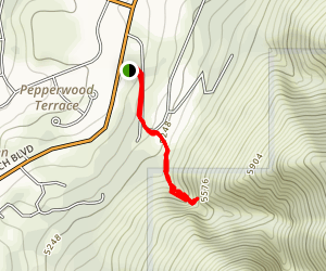 Rocky Mouth Falls Trail Map
