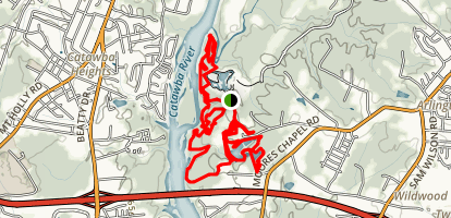 Catawba Riverfront Mountain Bike Park Trail Map