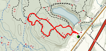 Hilton Falls Trail Map