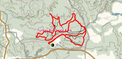 Turkey Run State Park #2 thru #11 Trails  Map