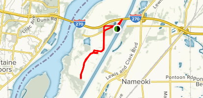 Chouteau Island Levee Trail Map