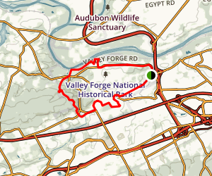 Valley Forge Historical Trail Map