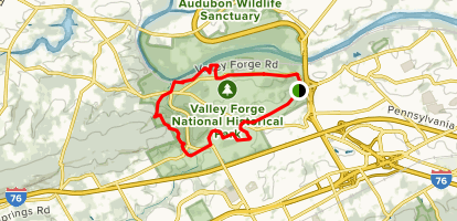 Valley Forge Map Valley Forge Historical Trail   Pennsylvania | AllTrails