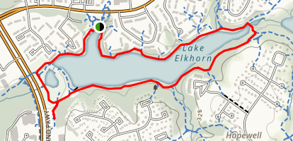 Lake Elkhorn Trail Map