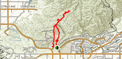 Crafton Hills Trail Loop Map