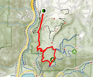 Jones, Novitiate, Range, and Manzanita Trails Loop Map