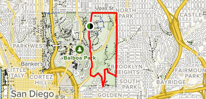 Balboa Park Trails Map