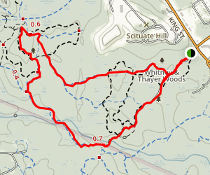 Whitney and Thayer Woods Trail Map