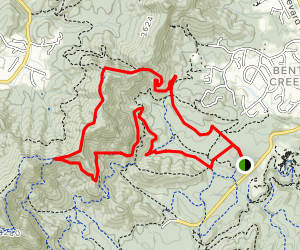 Bent Creek Network: Wolf Branch Loop Map