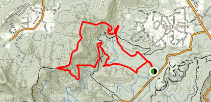 Bent Creek Recreational Area Trail Map