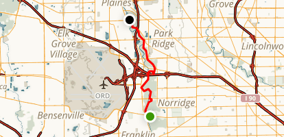 Nice River Side Trail Map