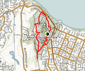 Mount Douglas via Whitaker Loop Map