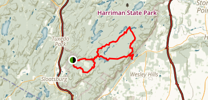 Harriman State Park Lake Trail Map