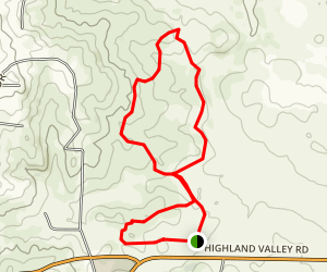 Ramona Grasslands Preserve Trail Map